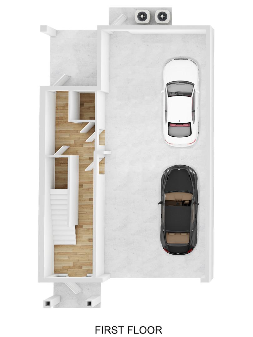 1st Floor 3D Plan - Oak Bend - For Sale