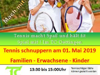 Tennis schnuppern für Kinder und Erwachsene !!!!!