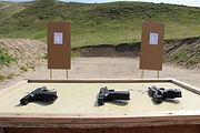 Firearm Instruction at gun range