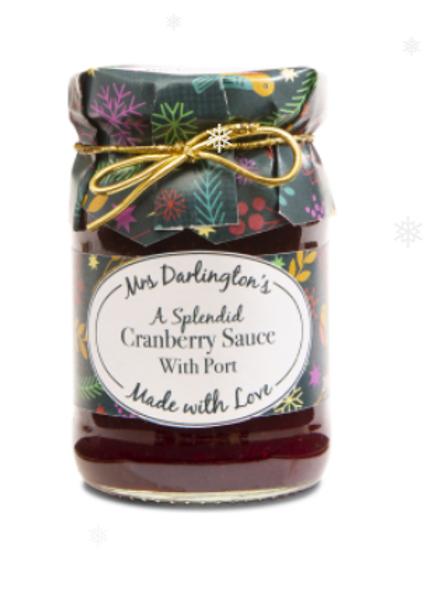 Mrs Darlington's Splendid Cranberry Sauce with port