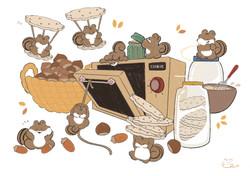 どんぐりクッキーをつくろう