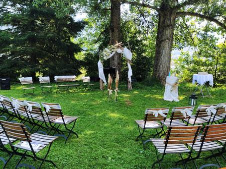 Un lieu approprié pour une cérémonie en plein air