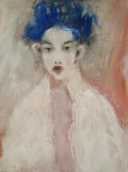Mädchen mit blauer Krone