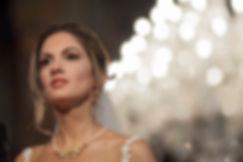 A portrait of a bride in Greek orthodox wedding ceremony.