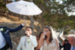 A galss of water is given to the bride and groom before the ceremony
