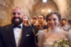 Greek Orthodox ceremony. The couple are having the wedding wreath.