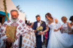 Greek Orthodox wedding ceremony. First dance called Isaias
