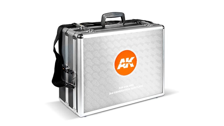 AK Interactive 3rd Generation Acrylic Paints Suitcases