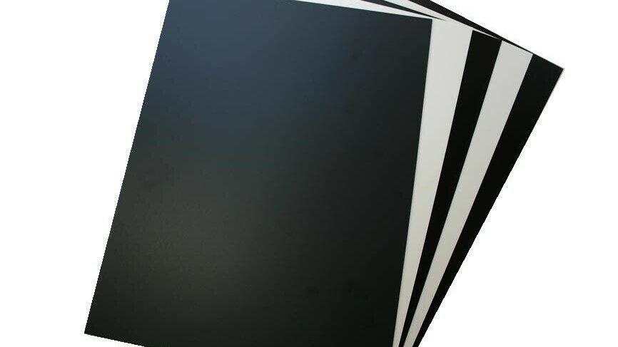 Plasticard Plastic Model Building Card Styrene White Black Clear 9 inch x12 inch