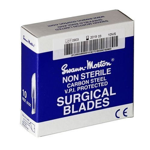 Swann Morton Blades Box of 100 for Cutting Rubber Moulds