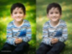 headshot, kid portraits, child model, before and after