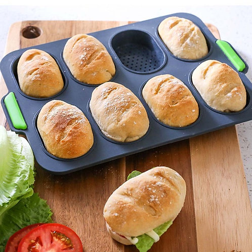 Silicone 8 Mini Loaf Baking Tray