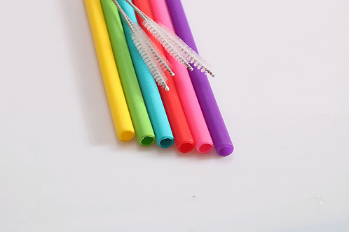 6 Pack Silicone Reusable Straws