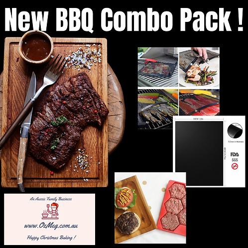 BBQ Trio Pack - Basting Bag, Burger Mould & Silicone BBQ Mat