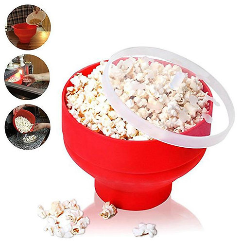 Collapsible Silicone Popcorn Bowl
