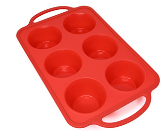 Steel Rimmed 6 Hole Muffin Tray