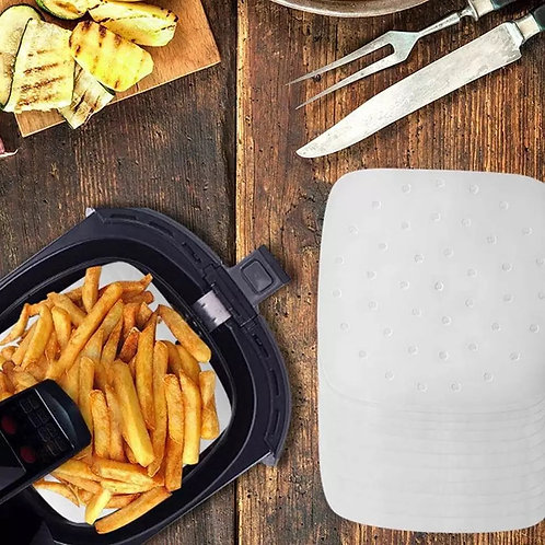 """7"""" 8"""" & 9"""" Rectangle - Air Fryer / Steamer Non-stick Paper liners (20 Pack)"""