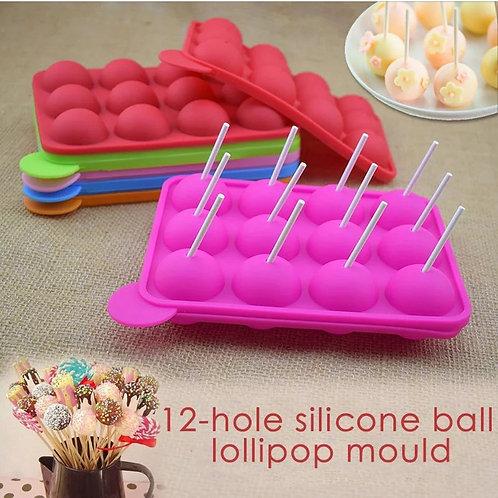 Silicone Cake Pop Mould & Lollipop Sticks