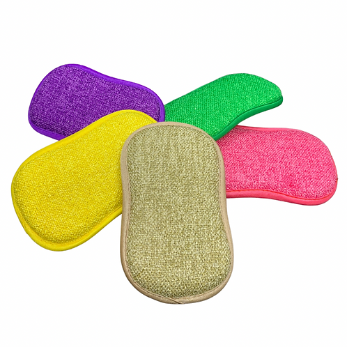 Dual Sided Microfibre & Scouring Sponge