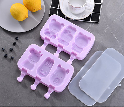 Kids Size Silicone Cartoon Ice Cream Mould