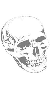 Evil A Skull Eyes Logo