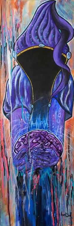 """""""mind tricks"""" 12x36"""