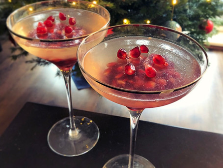 Prosecco and pomegranate jellies
