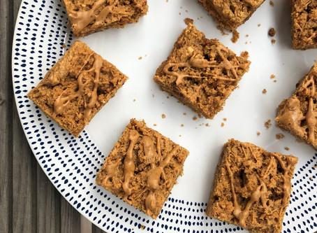 Peanut butter traybake