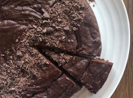 Gooey chocolate cake