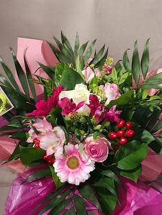 Bouquet 2 rose:Pastel en bulle d'eau min