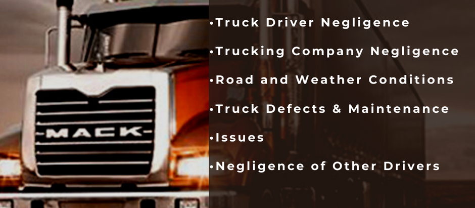 Top 5 Causes for 18 Wheeler Accidents