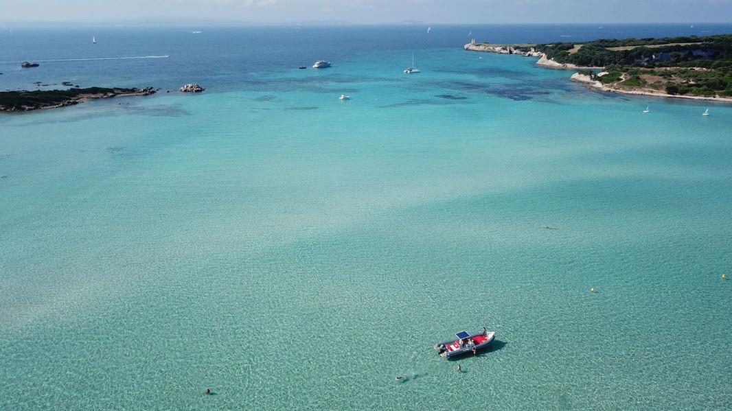 lomac dinghy in a wonderful bay of the archipelago