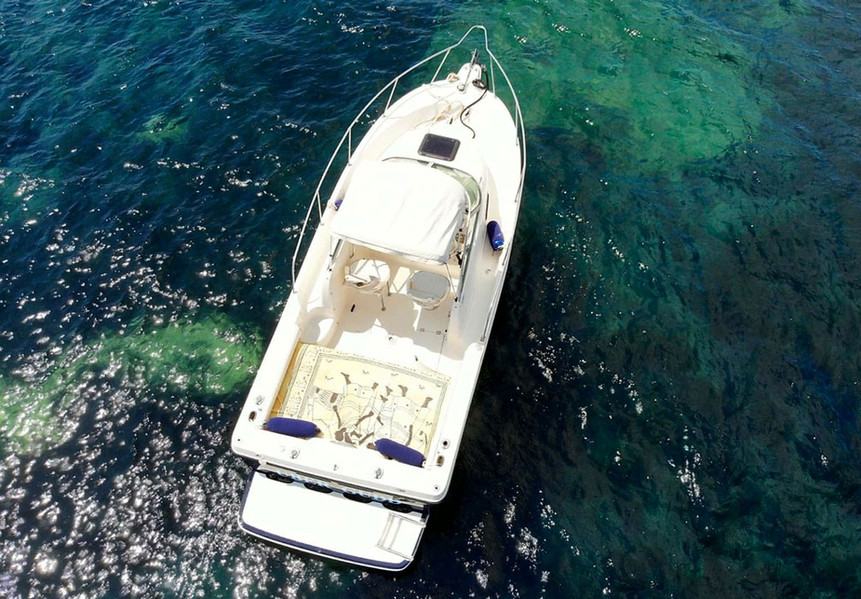 Bayliner-seen-from-above-in-the-archipelago
