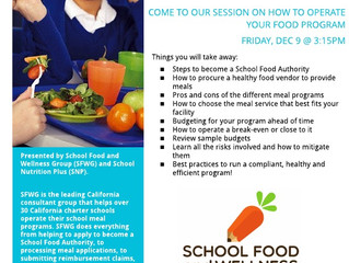 Tips for Managing the School Lunch Program