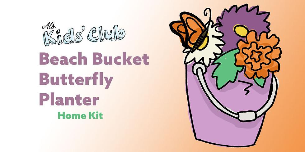 Beach Bucket Butterfly Planter