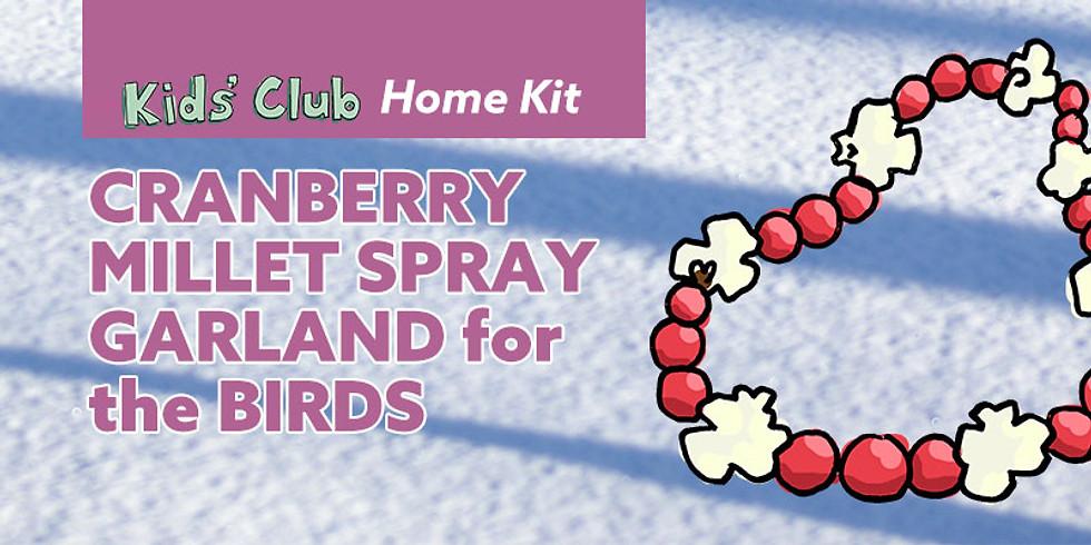 Cranberry Millet Spray Garland for the Birds