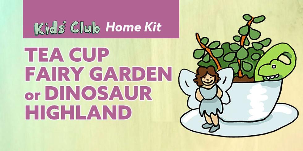 Tea Cup Fairy Garden or Dinosaur Highland