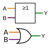 an OR-gate has two inputs and one output.