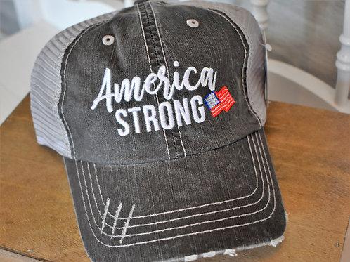 """American Strong"" Kaydid Trucker Hat"