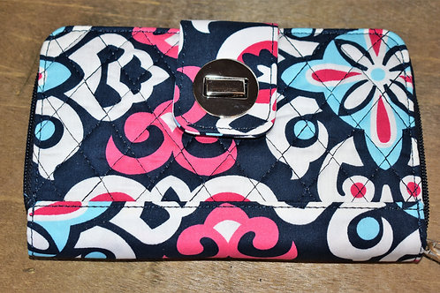Floral Quilted Wallet