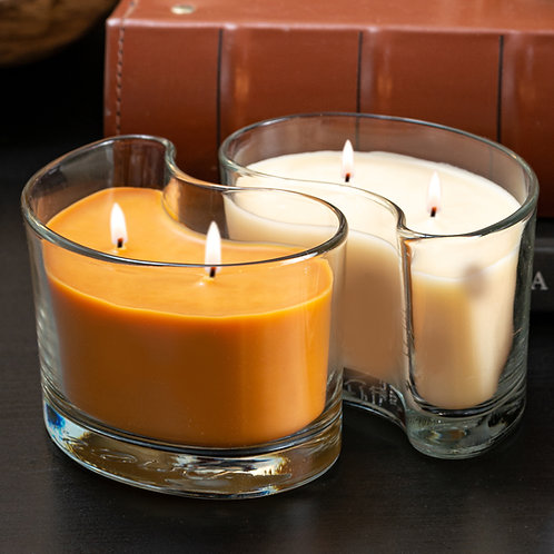 Large DUOS Candles - Cinnamon Spice/Decadent Pumpkin