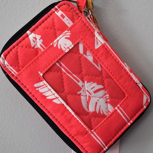 Coral Arrow Wristlet Wallet