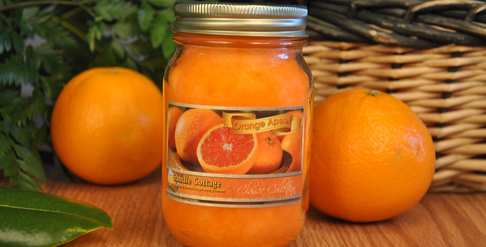 Mason Jar - Orange Apeel