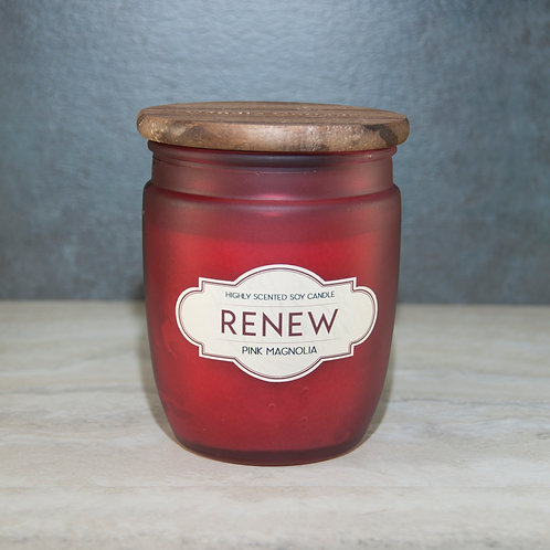 RENEW - Wooden Lid Glass Jar Soy Wax Candles