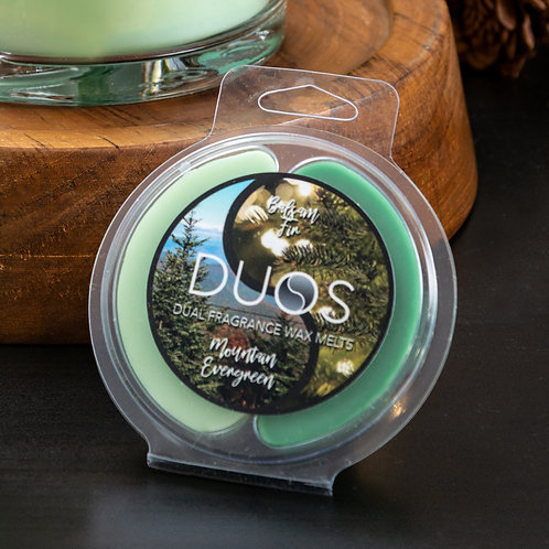 DUOS Wax Melts Candles - Mountain Evergreen/Balsam Fir
