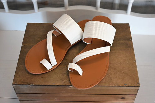 Rex White Toe Sandals