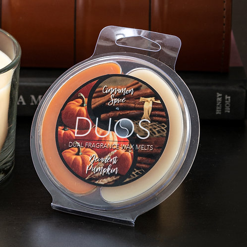 DUOS Wax Melts Candles - Cinnamon Spice/Decadent Pumpkin