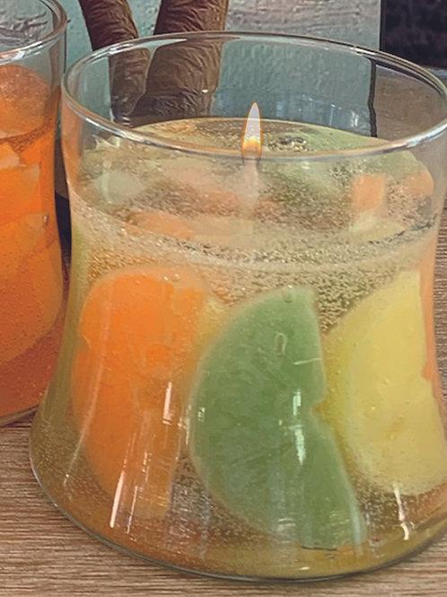 Hourglass Gel Candles - Citrus Splash