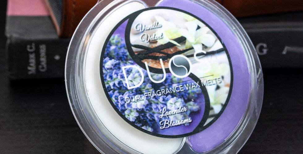 DUOS Wax Melts Candles - Lavender Blossoms/Vanilla Velvet