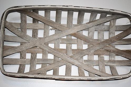 Mud Pie Grey Tobacco Basket